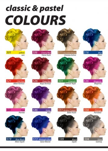 Jeans Color Saç Boyası Classic Pastel Renk Katalogu
