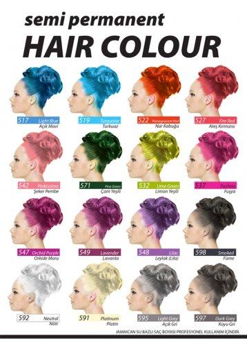 Jeans Color Saç Boyası Semi Permanent Renk Katalog